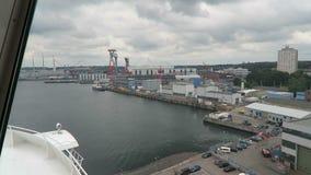 Przewozi opuszczać habor Kiel Holstein, Niemcy w kierunku Oslo (,) zdjęcie wideo