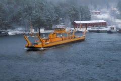 Przewozi statek Fragancia na linii w Sztokholm archipelagu Obrazy Stock