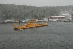 Przewozi statek Fragancia na linii w Sztokholm archipelagu Zdjęcie Stock