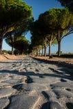 Przez Appia, Appian sposób od Porta Appia, anicient droga Rzym obrazy stock