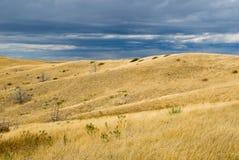 przez burzę Wyoming zdjęcia stock