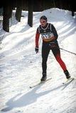 przez cały kraj narciarstwo fotografia stock