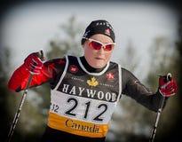 przez cały kraj narciarstwo zdjęcia stock