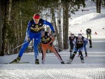 przez cały kraj narciarstwo zdjęcia royalty free