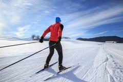 Przez cały kraj narciarstwo Obrazy Royalty Free