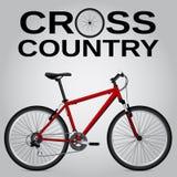 Przez cały kraj rower Fotografia Stock