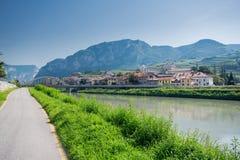Przez Claudia Augusta cyklu ścieżki, Włochy fotografia stock