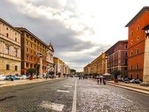 przez conciliazione della Rome obraz stock