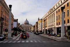 przez conciliazione della Rome Fotografia Stock