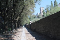 Przez Crucis w Cortona, Włochy Obrazy Stock