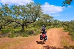 Przez De Los angeles Plata sposobu rowerzysty Santiago w Hiszpania Fotografia Stock