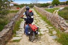 Przez De Los angeles Plata sposobu rowerzysty Santiago w Hiszpania Zdjęcia Royalty Free