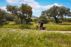 Przez De Los angeles Plata sposobu rowerzysty Santiago w Hiszpania Zdjęcie Stock