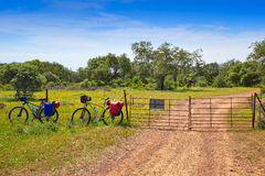 Przez De Los angeles Plata sposobu Santiago rowerem Hiszpania Zdjęcie Stock