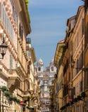 Przez dei Condotti, ulica w centrum Rzym Fotografia Stock