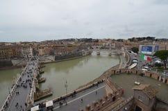 Przez della Conciliazione, droga wodna, miasto, rzeka, woda fotografia stock