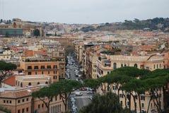 Przez della Conciliazione, miasto, obszar miejski, miasteczko, niebo obraz stock