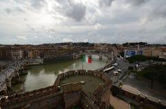 Przez della Conciliazione, niebo, miasto, woda, chmura fotografia stock