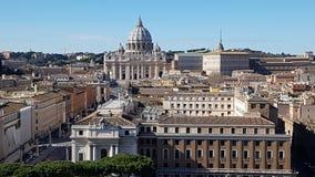 Przez della Conciliazione, St Peter ` s bazylika, świętego Peter ` s kwadrat, świętego Peter ` s bazylika, geographical cecha, pu zdjęcia stock