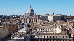 Przez della Conciliazione, St Peter ` s bazylika, świętego Peter ` s kwadrat, świętego Peter ` s bazylika, punkt zwrotny, history zdjęcia royalty free