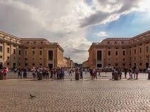 Przez della conciliazione, Watykan Rzym, Włochy zdjęcie stock
