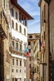 Przez della Ninna kołysanki ulicznej ulicy w Florencja, Włochy zdjęcia stock