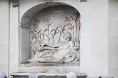 Przez delle Quattro Fontane jest ulicą w Rzym Obraz Royalty Free
