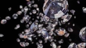 Przez diamentów z alfa kanałem błyska, zapętlający, zdjęcie wideo