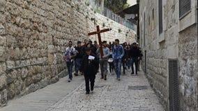 Przez Dolorosa, Jerozolima, Izrael zdjęcie stock
