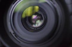 Przez kamery lense Zdjęcia Stock