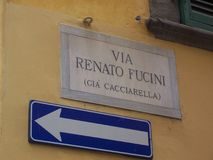 Przez Renato Fucini znaka Obrazy Stock