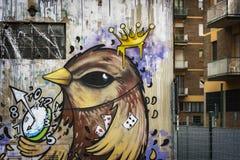 Przez Stalingrado ulicy sztuki Zdjęcie Stock