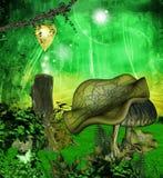 Przez zaczarowanego lasu ilustracja wektor