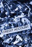 Przeznaczać do rozbiórki kredytowego konto Zdjęcie Royalty Free