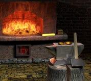 Przeznaczenie chcieć jego przeznaczenie blacksmith być. ilustracja wektor