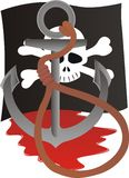 przeznaczenie pirat Obraz Royalty Free