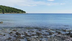 Przina Beach on the island of Korcula, Lumbarda stock footage