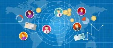 Przyłącza się marketingowe wielo- równe sprzedaże łączących mlm sieci ludzi ilustracja wektor