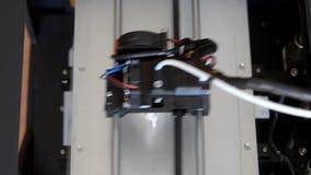 Przyłączeniowa 3d drukarka w pracy i druków formie stopiony klingeryt zbiory wideo
