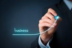 Przyśpiesza biznesowego przyrosta obraz stock