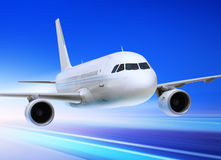 przyśpieszony samolot Zdjęcia Royalty Free