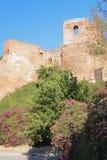 Przy ścianą antyczny forteca Alcasaba malaga Hiszpanii fotografia royalty free