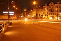 przy 19:00 6 Amsterdam prawie Zdjęcia Royalty Free