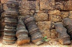 Przy Angkor sztuk kamienne relikwie Obraz Royalty Free