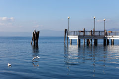Przy Anguillara Bracciano Jezioro Sabazia Zdjęcie Royalty Free