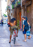 Przy Barceloneta terenem Obrazy Stock
