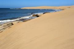 Przy Barra wybrzeże De Valizas Obraz Stock