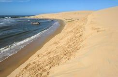 Przy Barra wybrzeże De Valizas Fotografia Stock