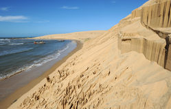 Przy Barra wybrzeże De Valizas Fotografia Royalty Free