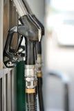 Przy benzynową stacją pompowi nozzles Obraz Royalty Free